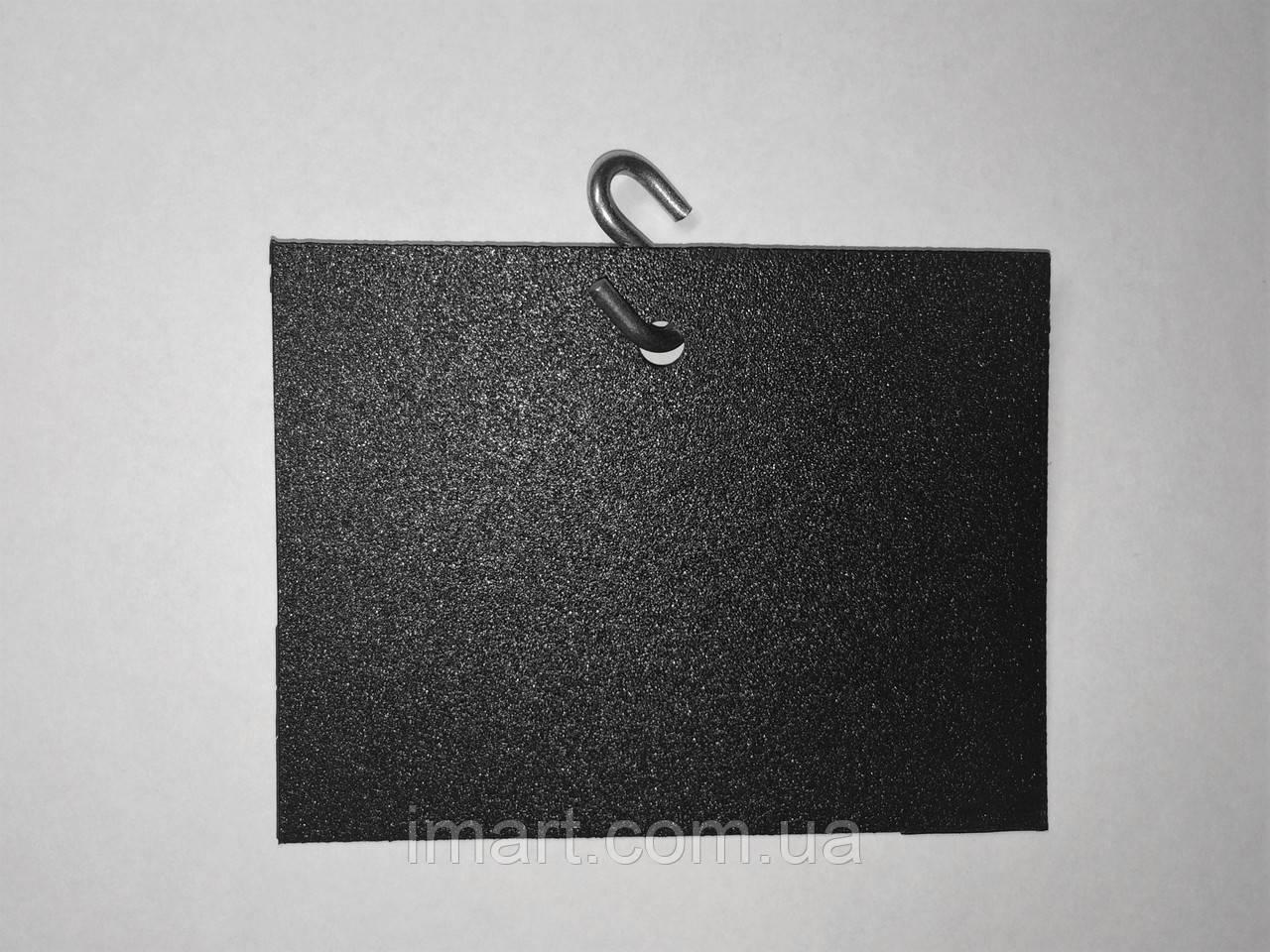 Ценник подвесной 5х10 см s-образным крючком меловой. Грифельная табличка. Для мела и мелового маркера