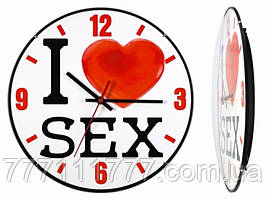 Часы настенные I love sex