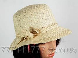 Соломенная шляпа Котелок 30 см белая