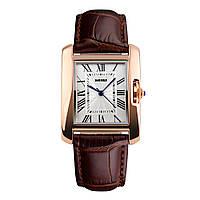 Skmei 1085 spring коричневые женские классические часы, фото 1
