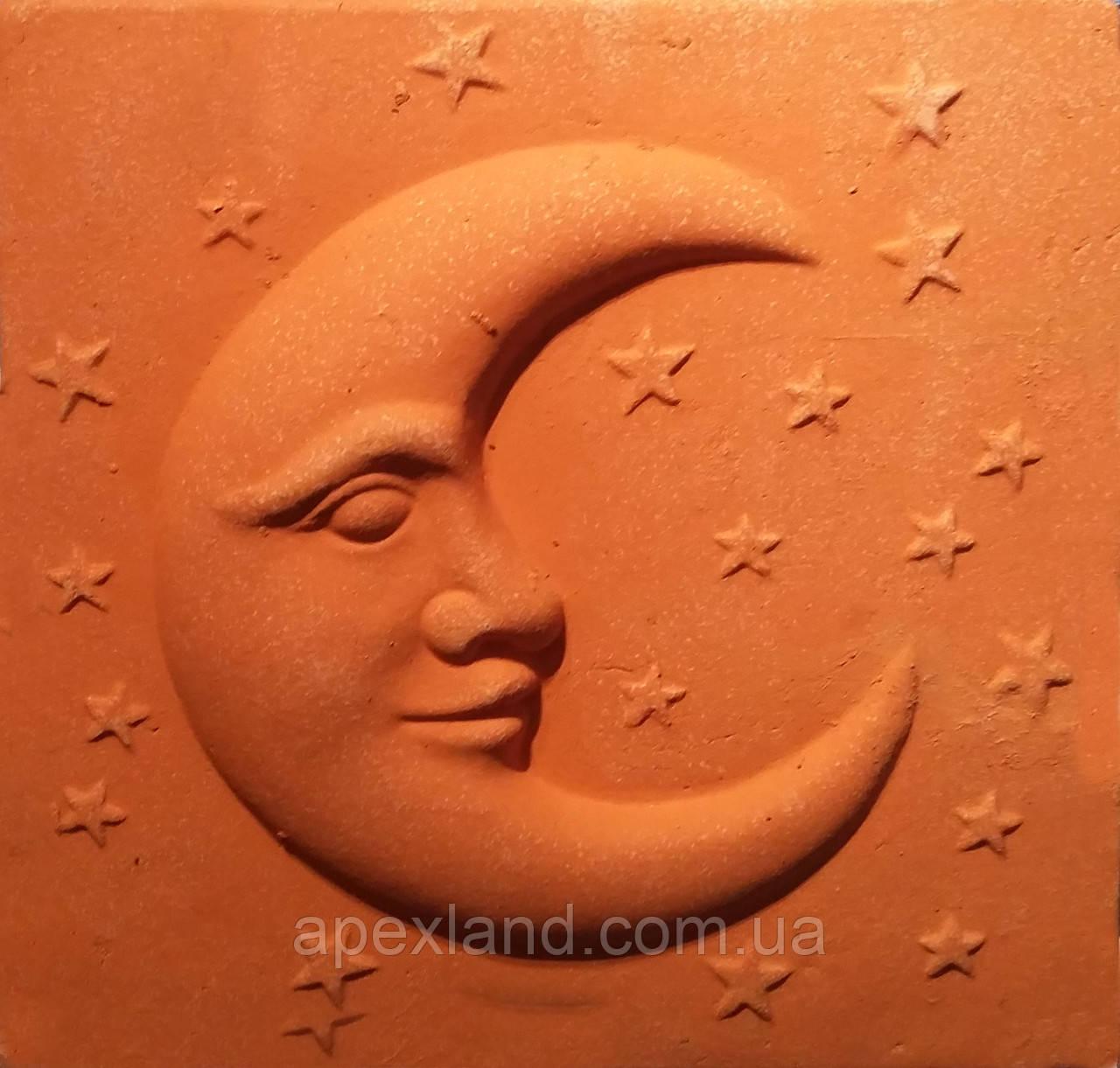"""Декоративное настенное панно """"Луна и звезды"""" из терракоты."""