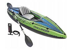 Туристическая надувная лодка Intex 68305 Challenger K1, фото 2