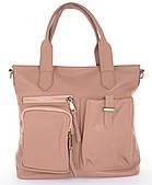 Стильная прочная женская сумка интересной формы с мягкой кожи Galanty art. 10555  Турция