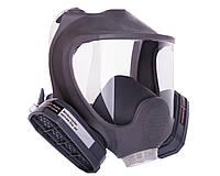 Полнолицевая маска с двумя химическими фильтрами в резиновой оправе (аналог 3М 6700, 3М 6800, 3М 6900)