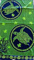Пляжное полотенце Черепаха зеленая махра,  90*170 см