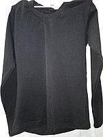 Топ футболка VK (длин.рукав+мыс) 34р. хлопок-92% лайкра 8% черный