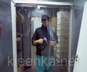Прозрачный ПВХ для создания или замены ленточных термозавес, термоштор в холодильных камерах, складах, фото 2