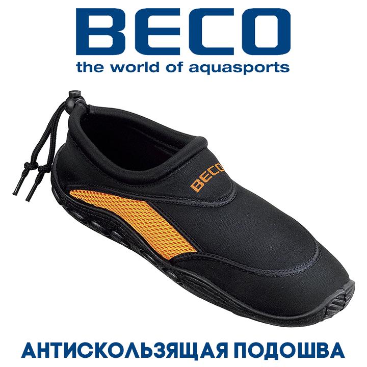 Аквашузы, обувь для серфинга и плавания BECO 9217 03 чёрный/оранжевый