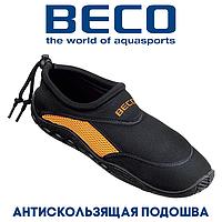 Аквашузы, коралки, обувь для дайвинга, серфинга и плавания BECO 9217 03, чёрный/оранжевый