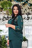Элегантный женский брючный костюм (3 расцв.) 50-56р., фото 3