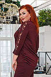 Элегантный женский брючный костюм (3 расцв.) 50-56р., фото 10