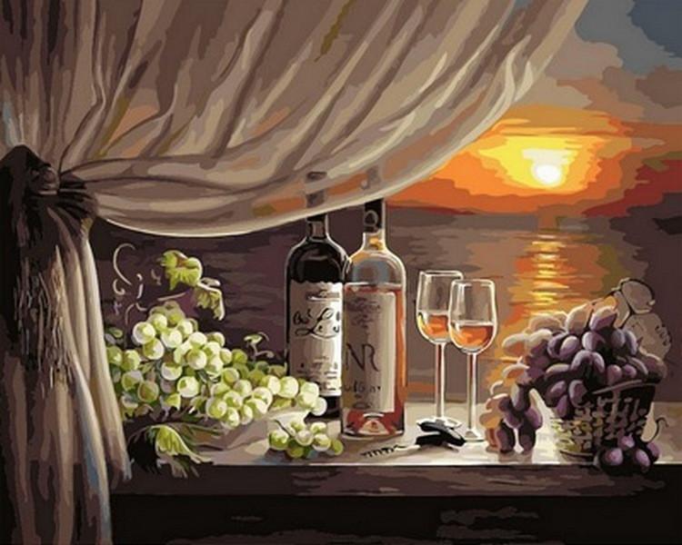 """Картина по номерам """"Вино на закате"""", 40x50 см Babylon"""