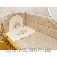 """Детское постельное белье в кроватку """"Вышивка Сова"""""""