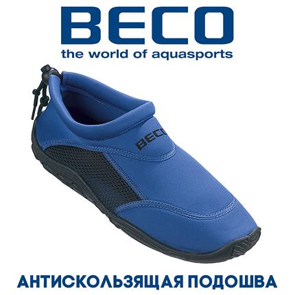 Аквашузы, коралки, обувь для дайвинга, серфинга и плавания BECO 9217 60, синий/чёрный, фото 2