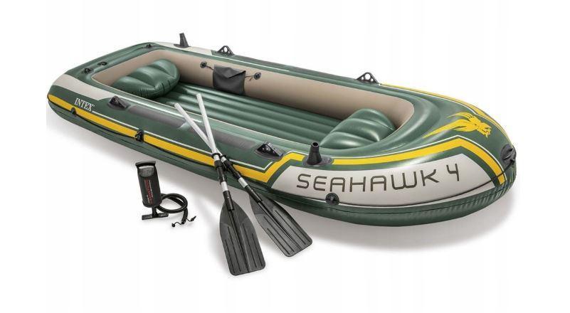 Туристическая надувная лодка Intex 68351 SEAHAWK 4 2018