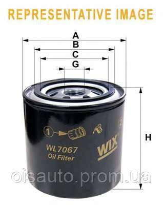 Масляный фильтр WIX FILTERS, WL7168