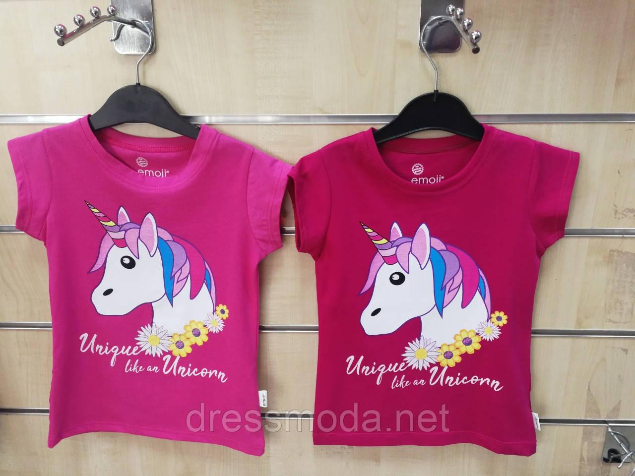 Футболка для девочек  Unicorn 3-8 лет