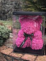Мишка из роз 3D 40см с лентой