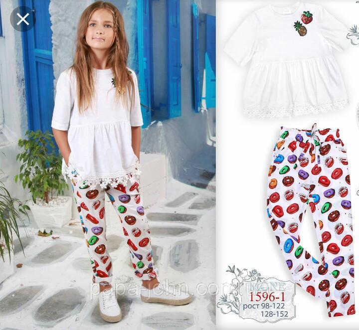 Яркие летние брюки для девочки р-ры 128, 134, 140,146