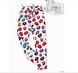 Яркие летние брюки для девочки р-ры 128, 134, 140,146, фото 2