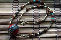 Тибетское ожерелье с рудракшой
