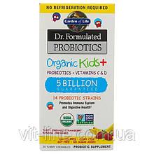 Garden of Life, Пробиотическая добавка Dr. Formulated Probiotics, пробиотики и витамины C и D, 30 драже