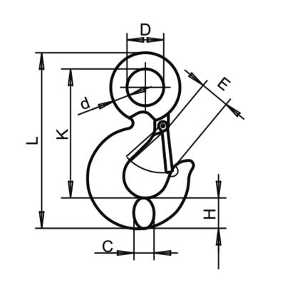 Крюк SL-130 чертеж