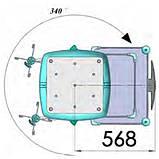 Неподвижная потолочная консоль - стандартная, фото 3