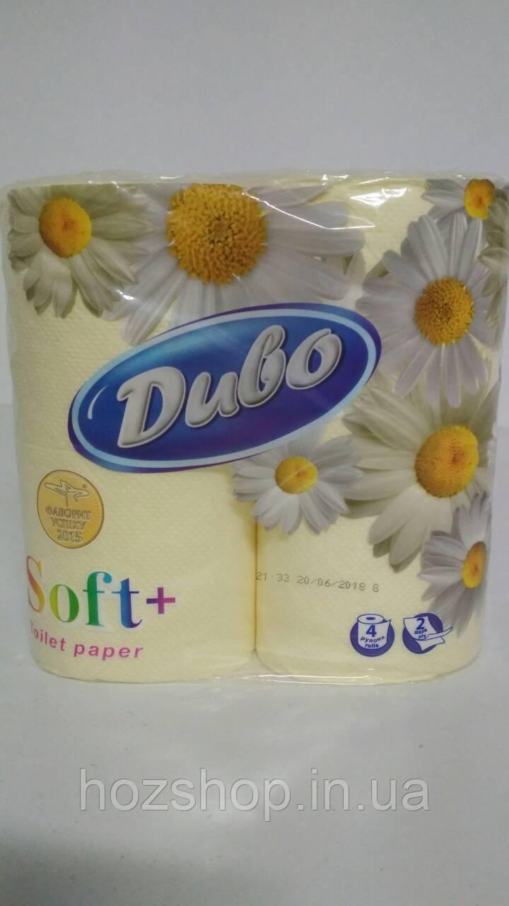Туалетная бумага  желтый (а4) Диво СОФТ (1 пач)
