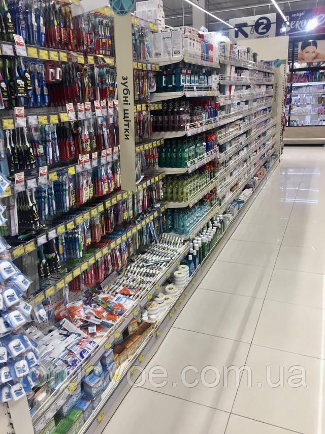 Стеллажи торговые для магазина бытовой химии в наличии