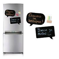 Магнитная доска на холодильник Chat с мелками в тубусе 44х8 см