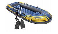 Туристическая надувная лодка Intex 68370 CHALLENGER 3 NEW 2018