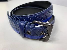 Мужской ремень - Blue Intrecciato VN Belt