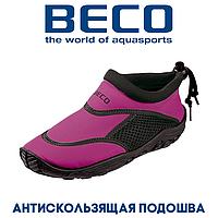 Аквашузы, коралки, обувь для дайвинга, серфинга и плавания, детские BECO 92171 40, розовый/черный