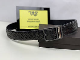Мужской ремень - Beige Intrecciato VN Belt