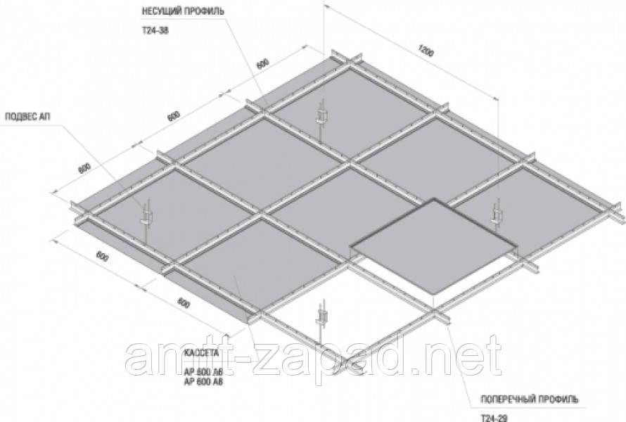 Т профиль для потолка Армстронг Луцк, фото 1