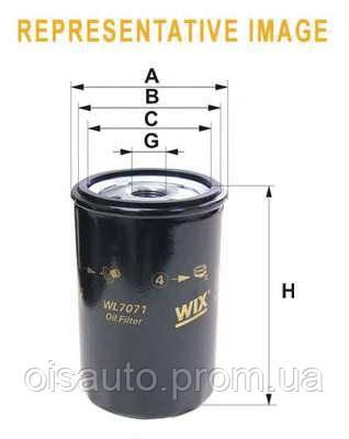 Масляный фильтр WIX OIL FILTER WL7070