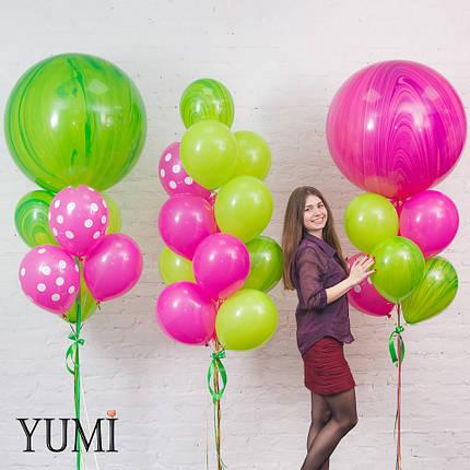 Оформление из мраморных воздушных шаров с гелием, фото 2