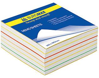 "Блок бумаги для заметок ""Радуга"" 90х90х40мм, склеенный"