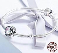 Браслет серебряный с кулоном аналог (Pandora) CTK Leyla 140