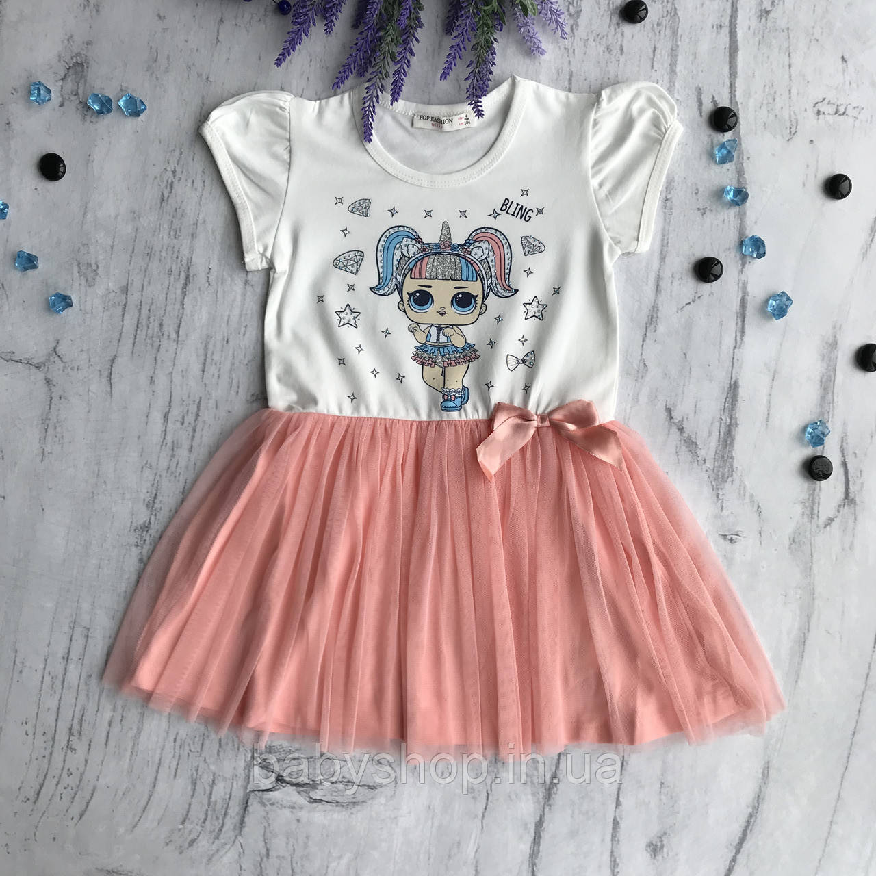 Летнее платье на девочку Breeze Лол 16. Размеры 104 см