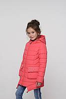 Детская демисезонная куртка для девочки Джейд коралл, фото 1