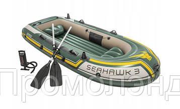 Туристическая надувная лодка Intex 68380 SEAHAWK 3 2018