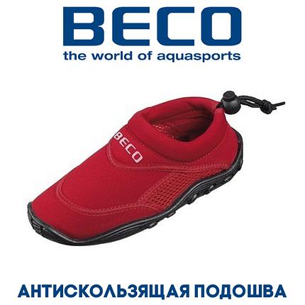 Аквашузы, обувь для серфинга и плавания, детские BECO 92171 5, красный, фото 2