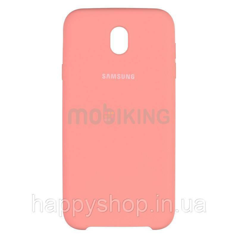 Оригинальный чехол Soft touch для Samsung Galaxy J7 2017 (J730) Pink