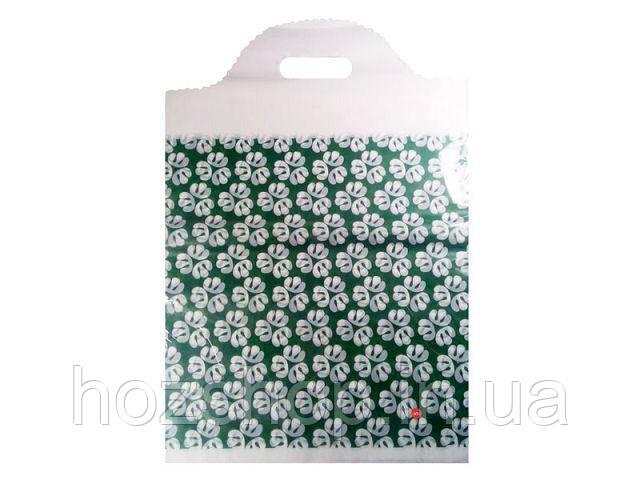Пакет с вырубной ручкой Ажурный (30*45)№ 05 китай (50шт) (1 пач)