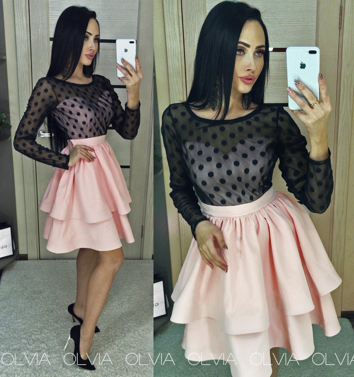 Модные платья с сеткой