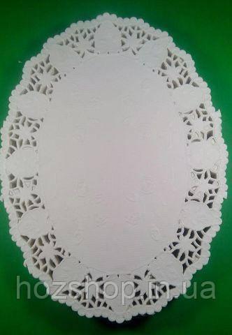 Овальная ажурная салфетка 19*26(250шт) (1 пач)