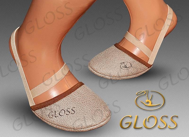 """Получешки """"GLOSS"""" флок  р.19 цвет какао"""