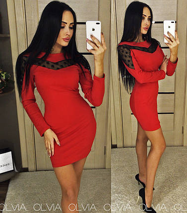 Платье футляр красное, фото 2
